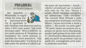 Gigi prete diocesano gatto